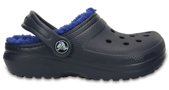 Crocs Classic Lined Clogs Kids Navy/Cerulean Blue